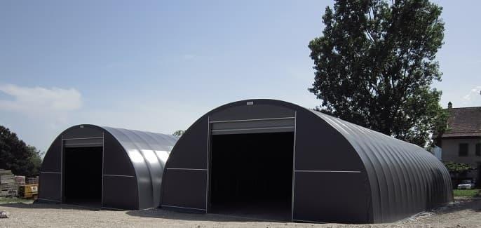 Hangar tunnel de stockage industriel